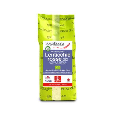 farina integrale di lenticchie rosse bio Spigabuona
