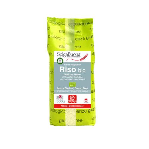farina integrale di riso vialone bio Spigabuona