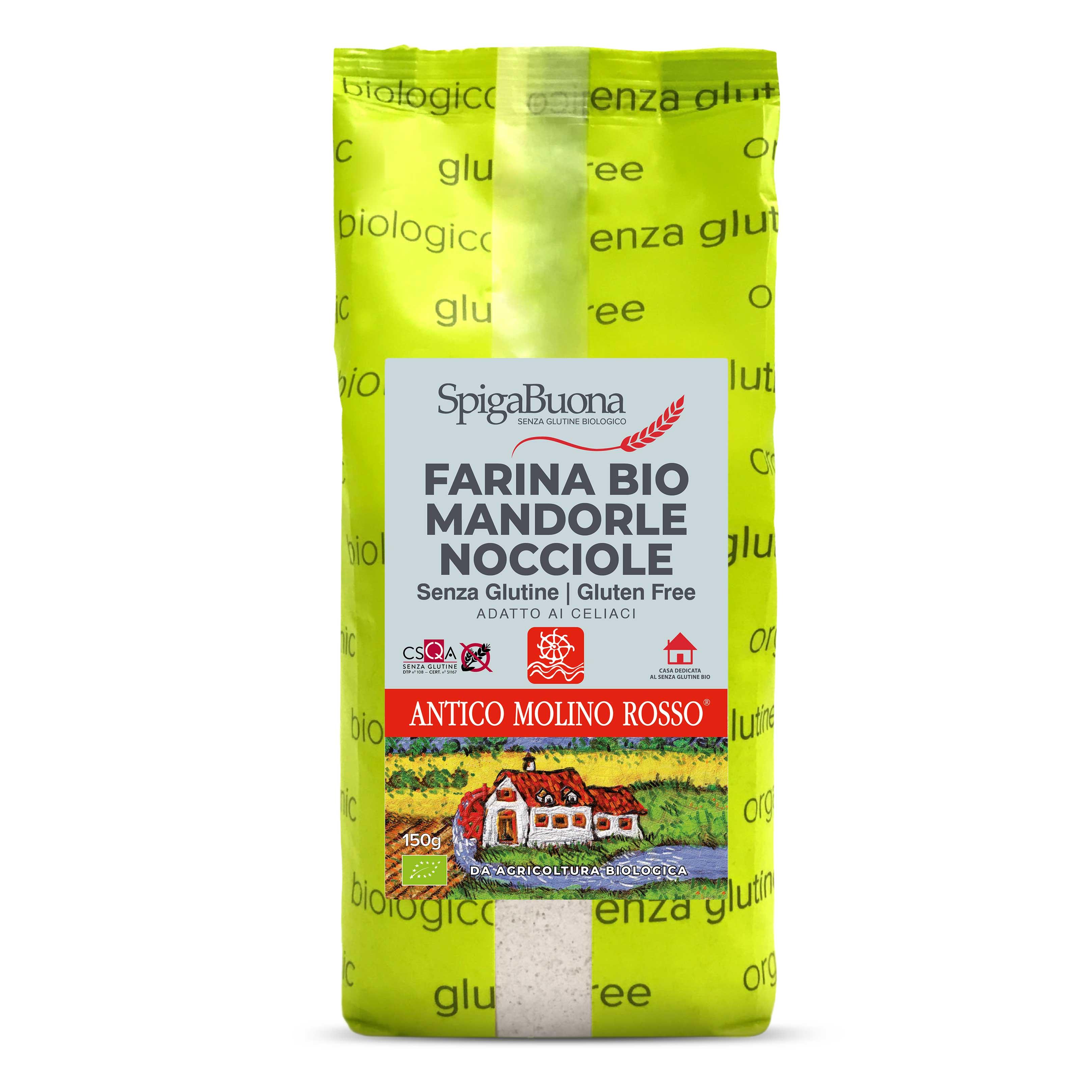 farina bio mandorle nocciole senza glutine 150g